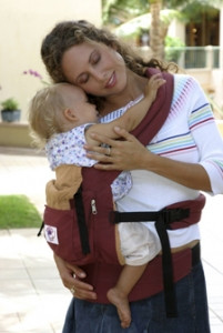 Рюкзачок ERGO BABY CARRIER , (bordo-cream) Органик